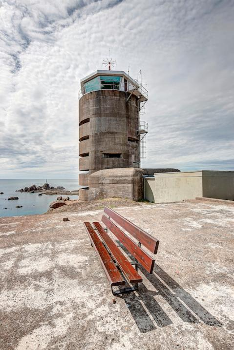 MP2 - Direction and range-finding tower for artillery. Jersey Channel Islands.