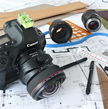Tools of the photographer and designer combined.